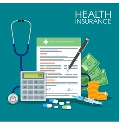 Health insurance form concept vector