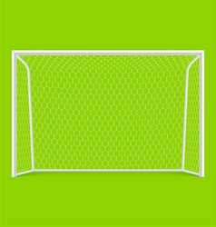 Soccer goal front view vector