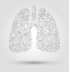 Abstract human lung from dots and lines vector