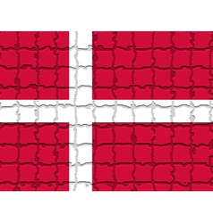 The mosaic flag of denmark vector