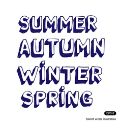 Seasonal fonts vector