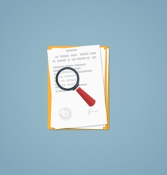 Document magnifying glass vector