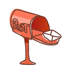 A post box is open vector
