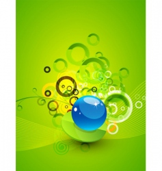 abstract circles design vector image vector image