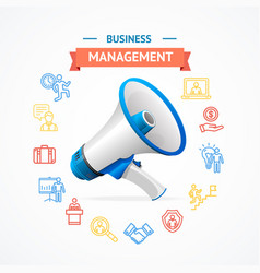 business management concept vector image vector image
