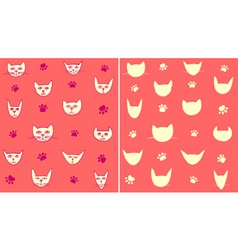 cat pattern vector image