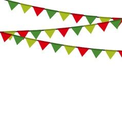 Christmas garlandsborders vector image