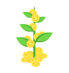 Coin tree vector