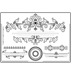 Decorative ornament border vector image