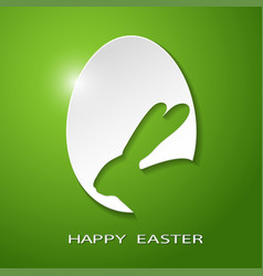 Easter egg rabbit vector