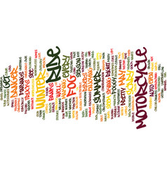 Foggy motorcycle ride text background word cloud vector