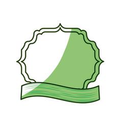 Frame emblem with ribbon vector