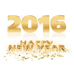 Golden happy new year vector