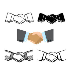 handshake business partnership agreement vector image vector image