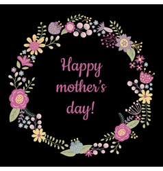 happy mothers day on black bc vector image