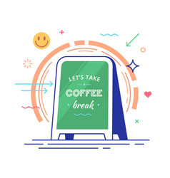 lettering with text lets take a coffee break vector image
