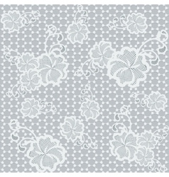 Light seamless lace fabric with floral pattern vector image vector image