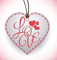 Love digital design vector image