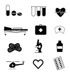 medical icon in black vector image