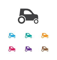 Of car symbol on hatchback vector