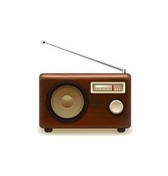 Old retro wooden radio vector