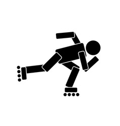 roller skating sport vector image