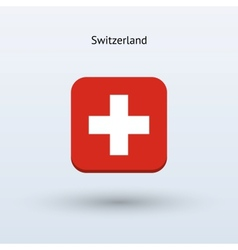 Switzerland flag icon vector
