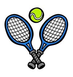 tennis racquet tennis ball vector image