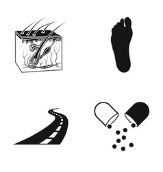 The skin the foot of a person and other web icon vector