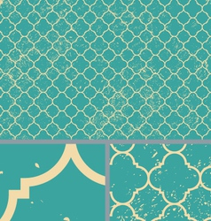 Vintage aqua worn seamless pattern background vector