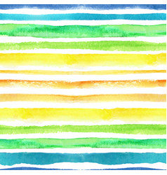 Watercolor strips seamless patternblue green vector