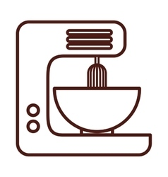 Kitchen appliance electric isolated icon vector