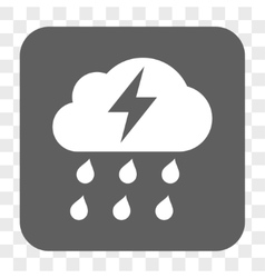 Thunderstorm Rounded Square Button vector image