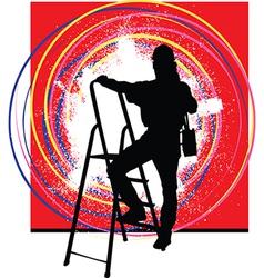 Painter home improvement vector