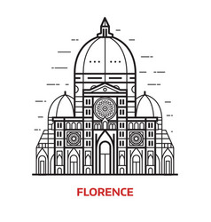 florence landmark vector image