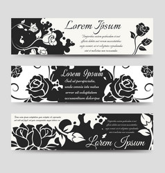 Splashes shape and flowers banners vector