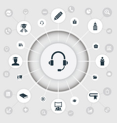 Set of simple speaker icons vector