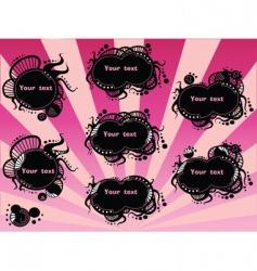black badges vector image