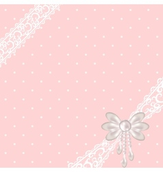 Pink polka dot background vector