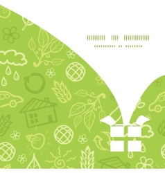 Environmental christmas gift box silhouette vector