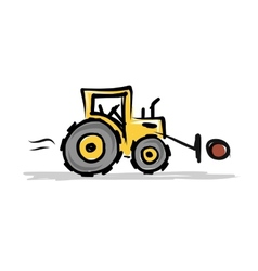 Tractor construction equipment for your design vector