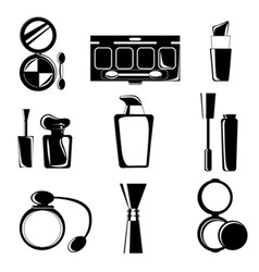 cosmetic icons vector image