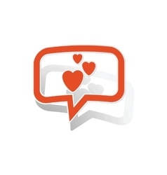 Love message sticker orange vector