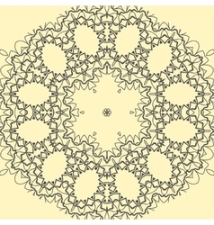 Yellow ornate mandala print vector