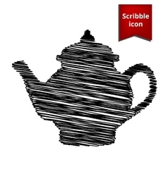 Tea maker scribble icon for you design vector