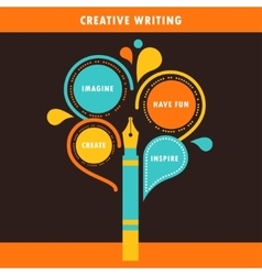 Creative writing infographics template vector
