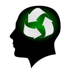 ecology symbol in human head vector image