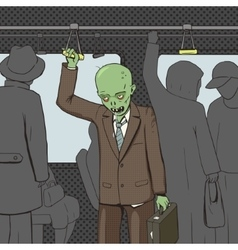 Zombie goes to work pop art vector