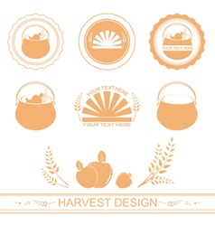 Harvest designs vector
