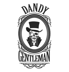 Skull gentleman in the cylinder vector